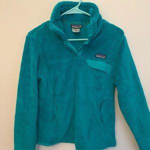 Women's M Patagonia blue fleece pullover